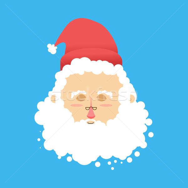 Sonno Natale sogno babbo natale occhi Foto d'archivio © popaukropa