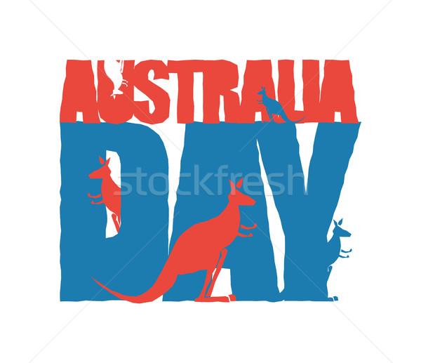 Australia Day. Traditional Australian patriotic holiday. Kangaro Stock photo © popaukropa