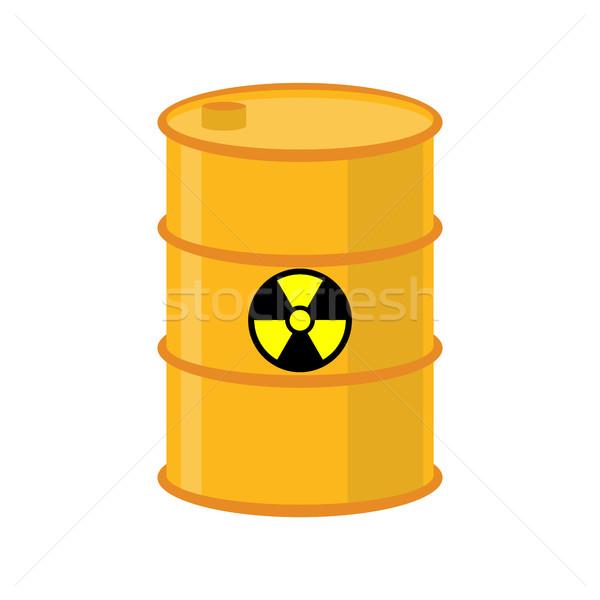 Químico desperdiçar amarelo barril tóxico venenoso Foto stock © popaukropa