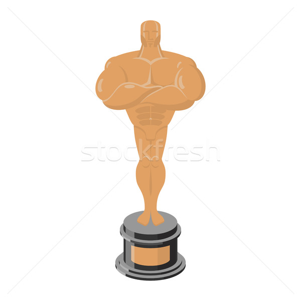 Bronze statue Award for third place. Statue premium isolated Stock photo © popaukropa
