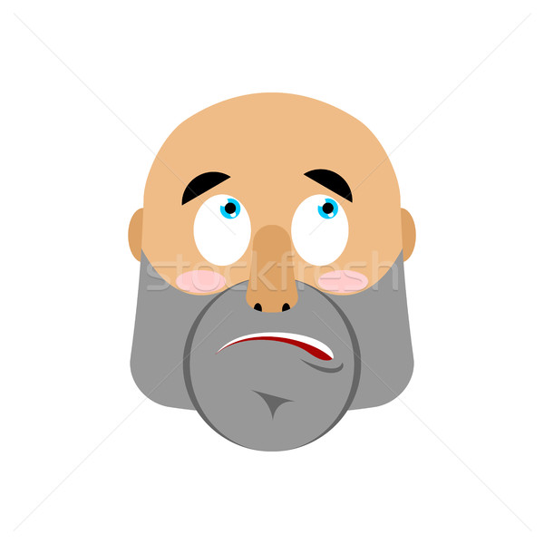 brutal Man surprising Emoji. Men face astonished emotion isolate Stock photo © popaukropa