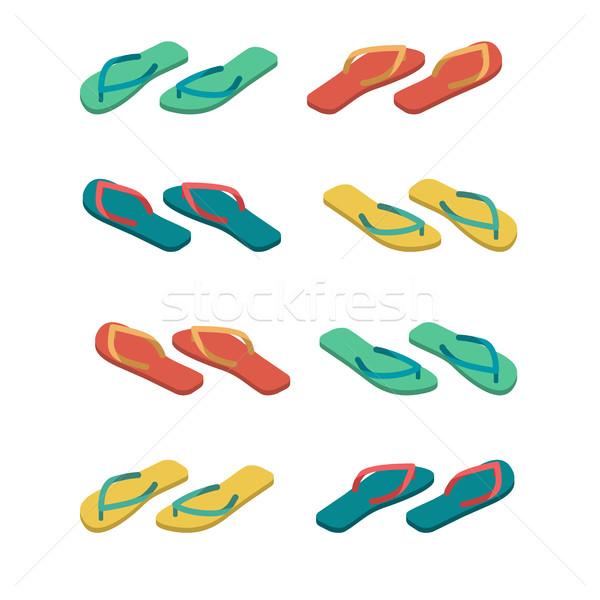 Terlik yalıtılmış yaz ayakkabı plaj bot imzalamak Stok fotoğraf © popaukropa