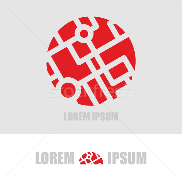 Logo  ball segments. Emblem  business template for organization  Stock photo © popaukropa