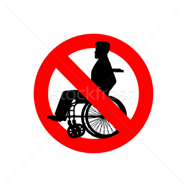 Stop disabled. Prohibited person on wheelchair. Ban for people w Stock photo © popaukropa