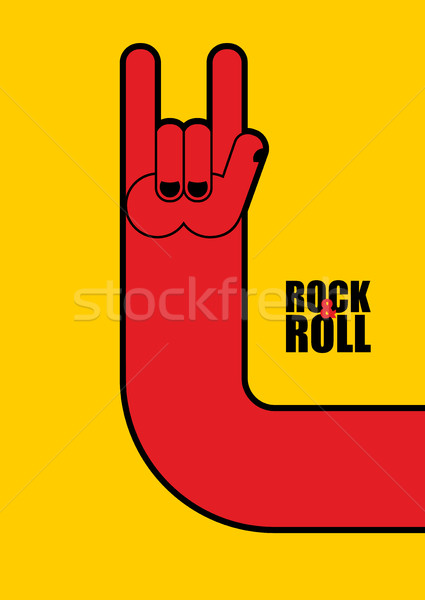 Hand rock and roll sign. Poster for  rock festival. Stock photo © popaukropa