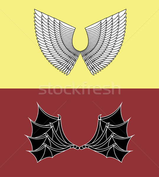 Demon and Angel Wings Stock photo © popaukropa