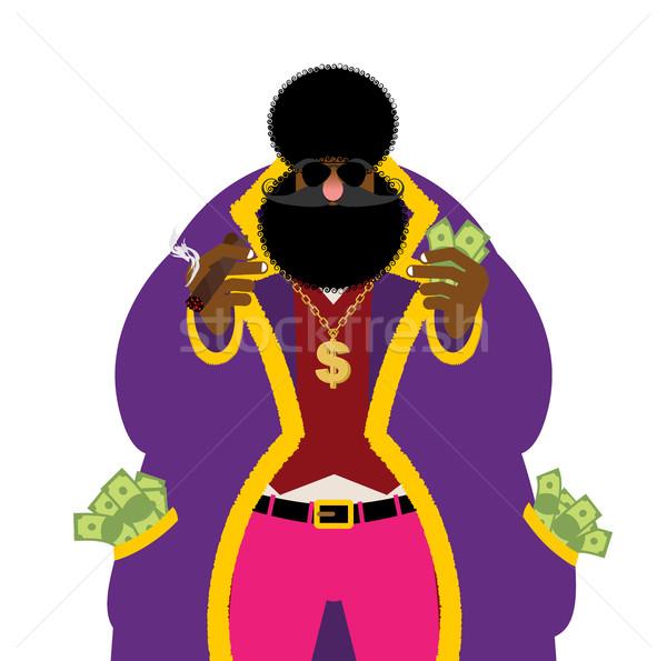Souteneur geld zak vol cash heldere Stockfoto © popaukropa