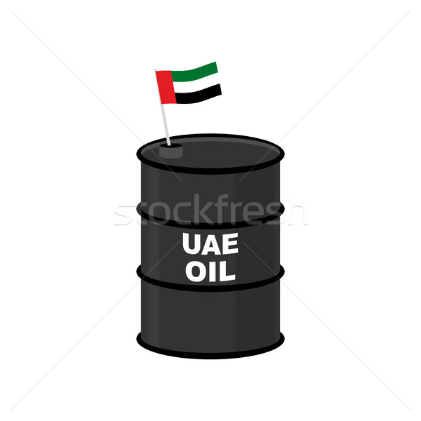 UAE Barrel oil. United Arab Emirates petroleum. Business illustr Stock photo © popaukropa