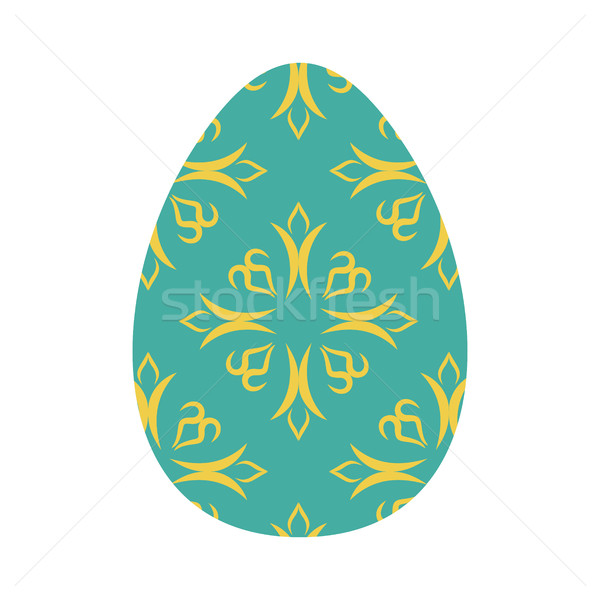 Easter egg isolated. Traditional decoration food for religion ho Stock photo © popaukropa