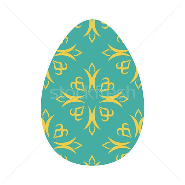 Huevo de Pascua aislado tradicional decoración alimentos religión Foto stock © popaukropa