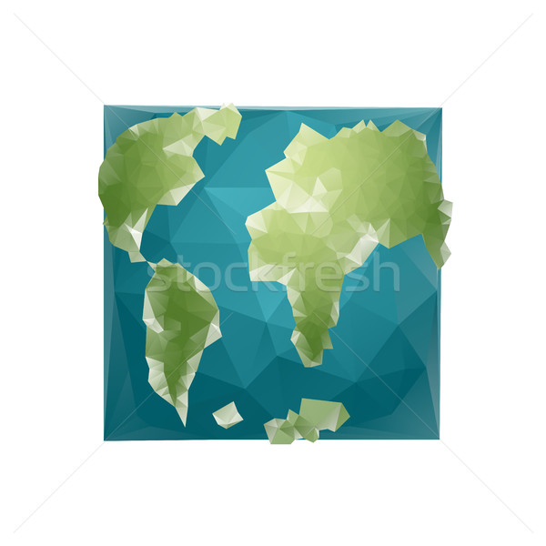 Earth Polygon. Planet geometric figure square. Abstract universe Stock photo © popaukropa