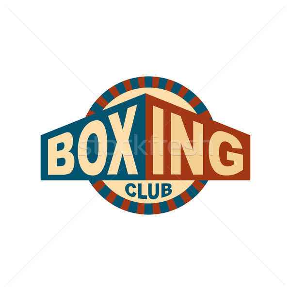 Boxing club emblem. Logo for gym. Sport sign Stock photo © popaukropa
