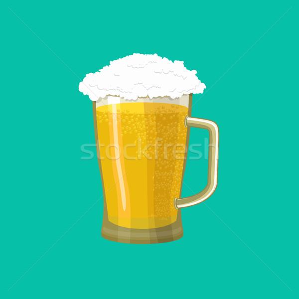 Beer Mug isolated. pot alcohol. Foam drink Stock photo © popaukropa