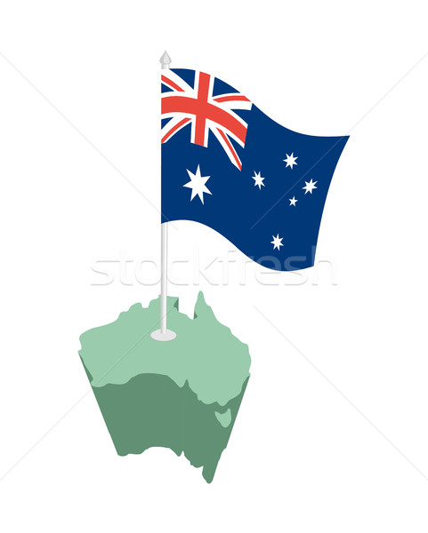 Australia map and flag. Australian resource and land area. State Stock photo © popaukropa