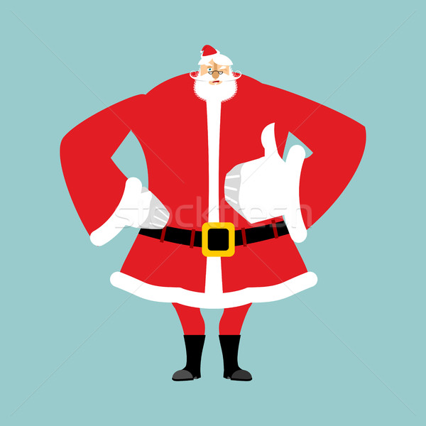 Santa Claus thumbs up. Gesture of hand is all right. Success of  Stock photo © popaukropa