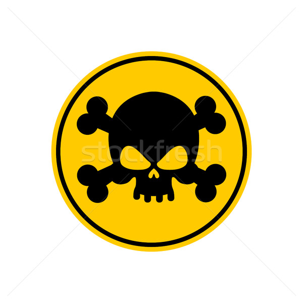 Danger Poison sign yellow. Attention toxic hazard. Warning sign  Stock photo © popaukropa