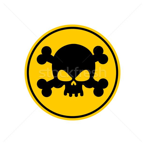 Danger poison signe jaune attention toxique Photo stock © popaukropa