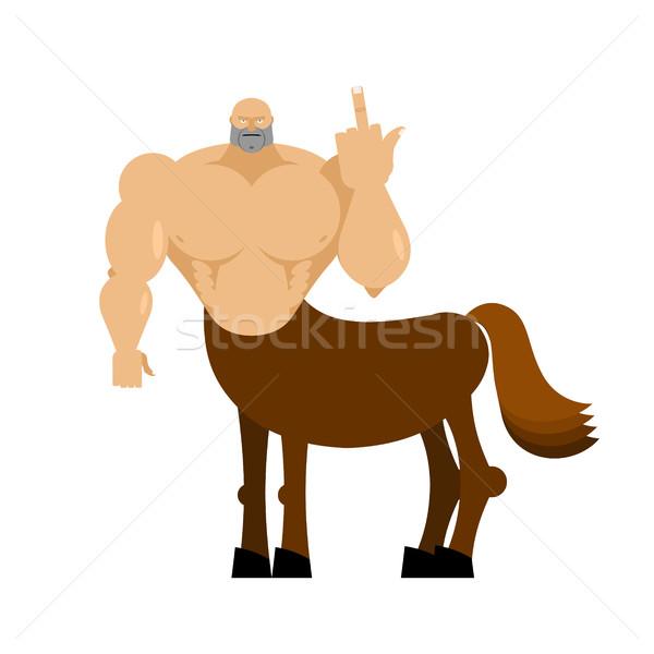 Centaur fairytale creature. Man horse isolated. Fantastic animal Stock photo © popaukropa