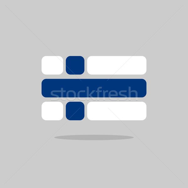 Bandera Finlandia estilizado geométrico elementos viaje Foto stock © popaukropa