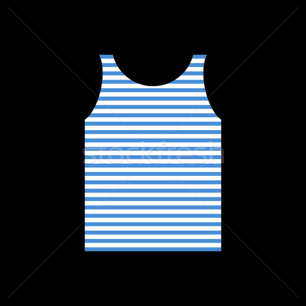 sailor Shirt. Singlet Soldier Navy. Army clothes isolated Stock photo © popaukropa