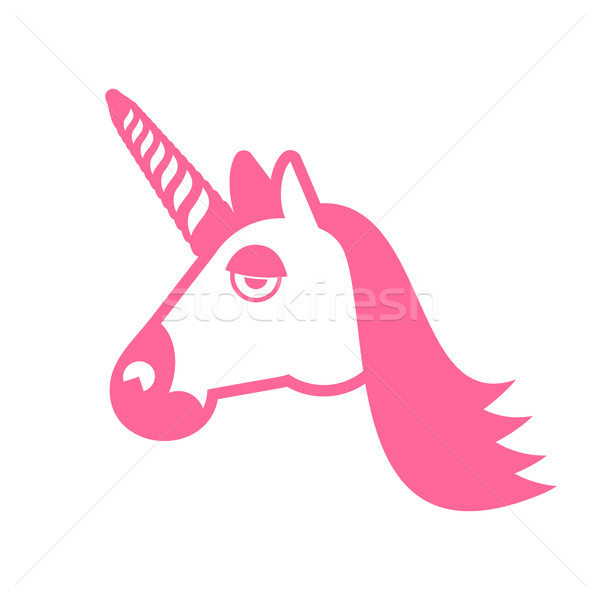 Unicorn head isolated. Fabulous beast in horn. Fantastic animal Stock photo © popaukropa