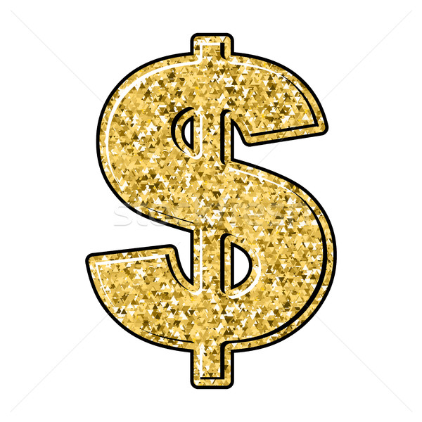 Gold dollar. Currency sign of precious metal. American national  Stock photo © popaukropa