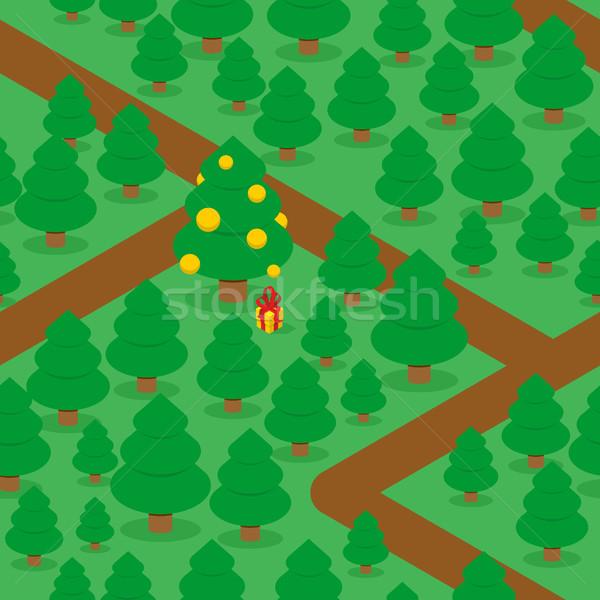 Boschi decorato Natale albero di natale Foto d'archivio © popaukropa