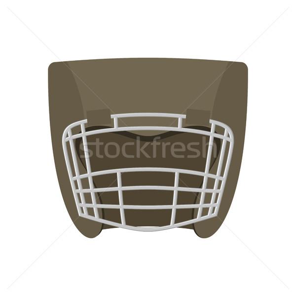 Stok fotoğraf: Boks · kask · gri · boksör · maske · yalıtılmış