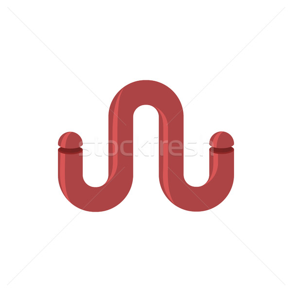 List rur streszczenie logo list w metal Zdjęcia stock © popaukropa