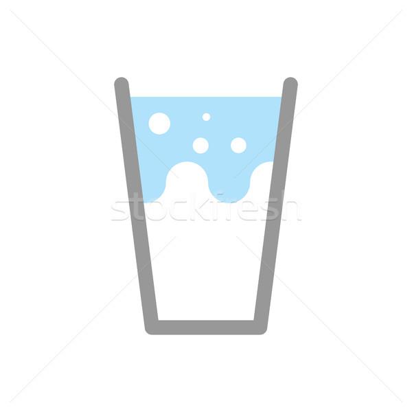 Latte vetro isolato gocce alimentare Foto d'archivio © popaukropa