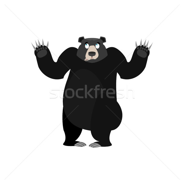 Baribal Surprised Emoji. American Black Bear astonished emotion  Stock photo © popaukropa