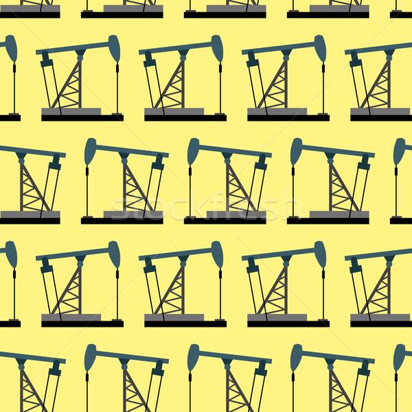 буровая нефть насос вектора небе Сток-фото © popaukropa