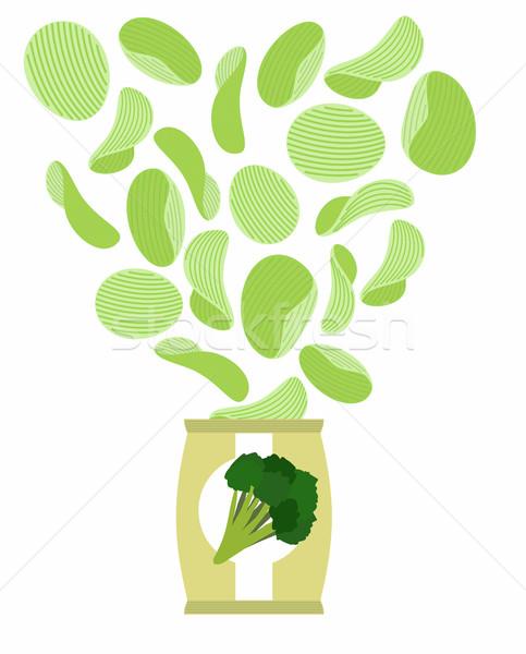 Goût comme brocoli emballage sac Photo stock © popaukropa
