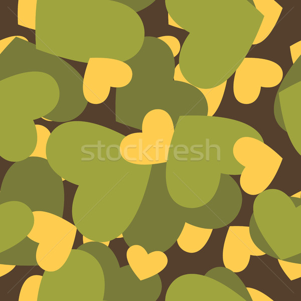 Military texture for love. Camouflage army seamless pattern from Stock photo © popaukropa