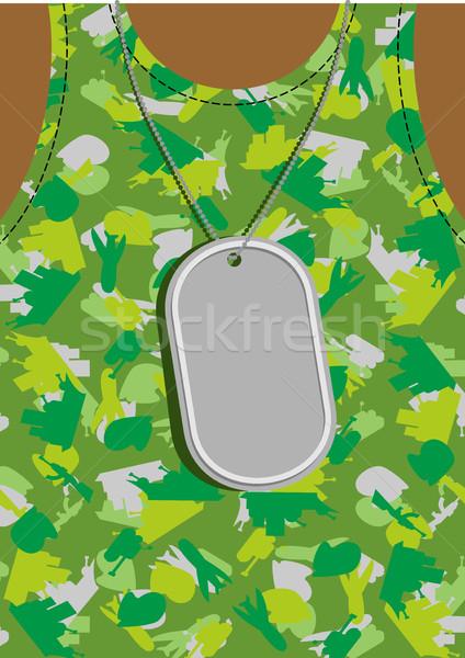 Exército soldado distintivo peito masculino torso Foto stock © popaukropa