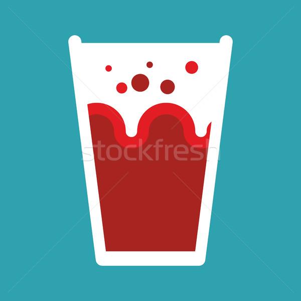 Suco de tomate vidro isolado néctar tomates vermelho Foto stock © popaukropa