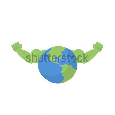 地球 強い フィットネス 健康 惑星 ボディービル ストックフォト © popaukropa