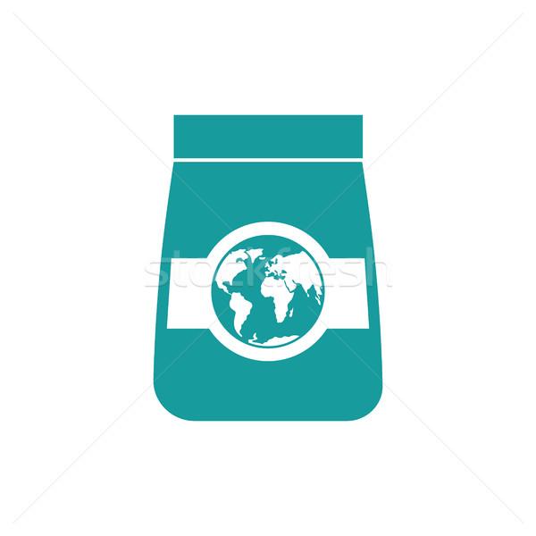 Exportar bens ícone terra negócio Foto stock © popaukropa