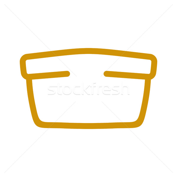 Bread line style. bakery Icon. bakeshop Sign isolated. Food symb Stock photo © popaukropa