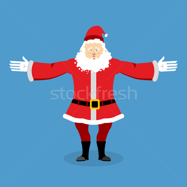 Happy Santa Claus spread his arms in an embrace. Jolly Christmas Stock photo © popaukropa