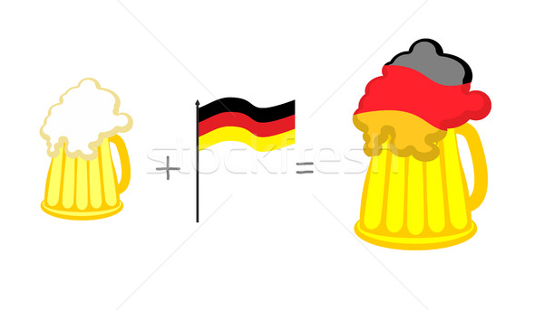 Beer and German flag. Mathematical formula: beer mug plus flag o Stock photo © popaukropa