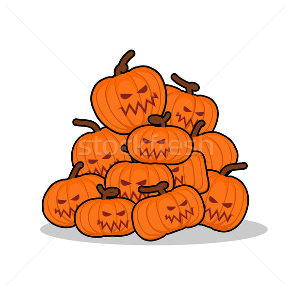 Pile of pumpkins for Halloween. Lot of vegetables for terrible h Stock photo © popaukropa