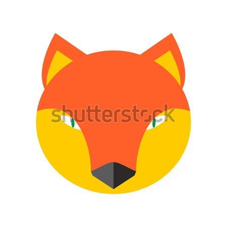 Fox faccia cute testa elemento ragazzi Foto d'archivio © popaukropa