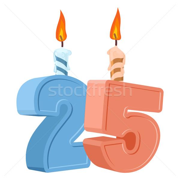 25 año cumpleanos número vela Foto stock © popaukropa