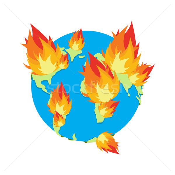 земле огня планеты сжигание катастрофа Сток-фото © popaukropa