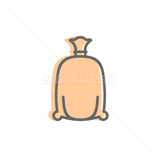 flour bag Line icon. Sign for production of bread and bakery Stock photo © popaukropa