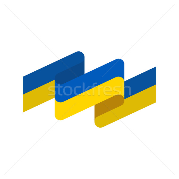 Ukraine Flag ribbon isolated. Ukrainian banner tape. state symbo Stock photo © popaukropa