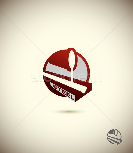 logo  steel industry. Concept design for the factory, the factor Stock photo © popaukropa