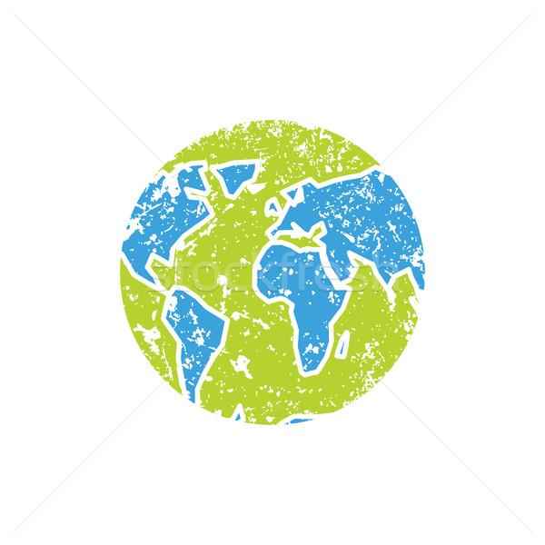 地球 グランジ スタイル スプレー 惑星 孤立した ストックフォト © popaukropa