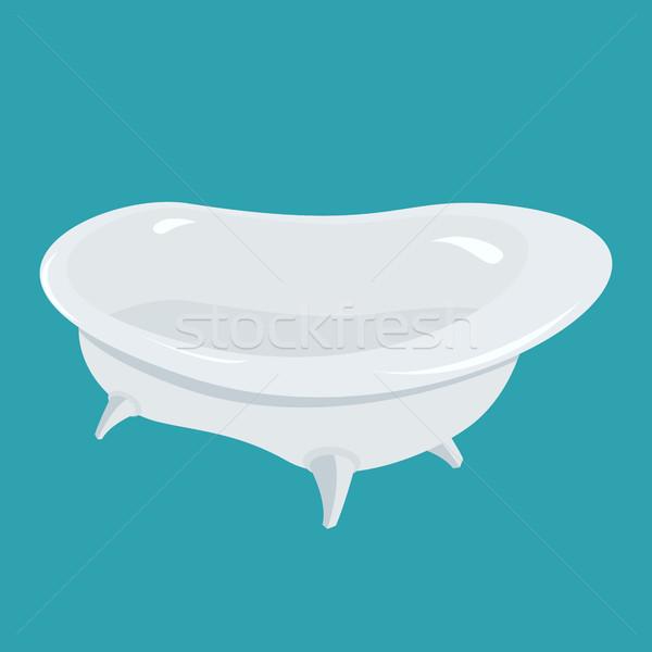 Bathtub isolated. Bath on white background Stock photo © popaukropa